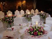 Оформление праздников,  мероприятий,  свадеб живыми цветами,  шарами...